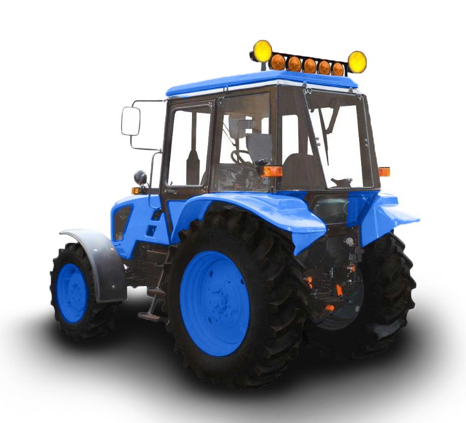 желтые фары на трактор