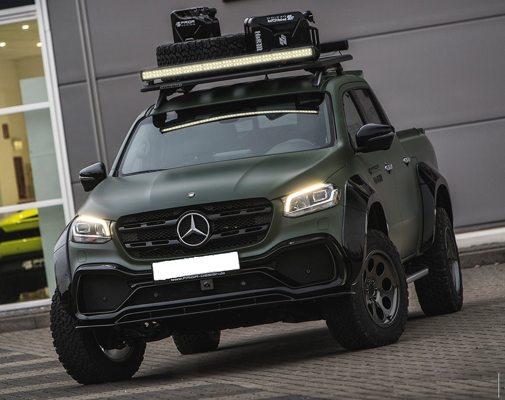 Светодиодная балка на Mercedes