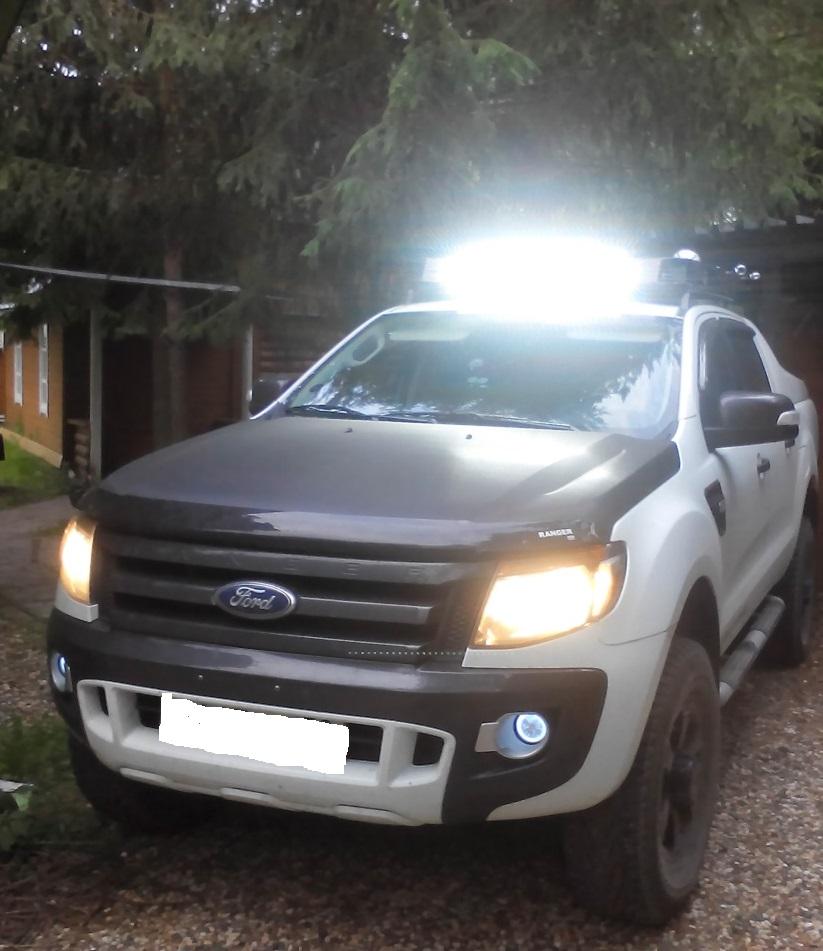 Светодиодная балка на Ford Ranger